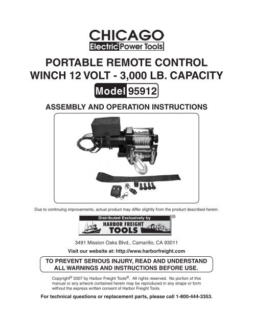 portable remote control winch 12 volt - Harbor Freight Tools on harbor freight winch accessories, harbor freight winch circuit breaker, harbor freight winch battery, badland winches wiring diagram, harbor freight winch system, harbor freight winch remote control, harbor freight winch cover, harbor freight winch solenoid, badland remote winch diagram, harbor freight winch parts,
