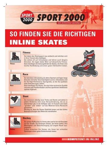 INLINE SKATES SO FINDEN SIE DIE RICHTIGEN - Sport Steinbach