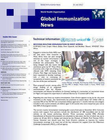 Global Immunization News - WHO Thailand Digital Repository