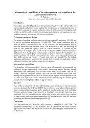 Microanalysis capabilities of the microspectroscopy ... - ainse