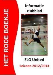 download het informatie clubblad 2012-2013 - ELO United