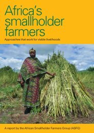 Africa's smallholder farmers : Approaches that work ... - Practical Action
