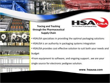 • HSAUSA specializes in providing the optimal packaging solutions ...