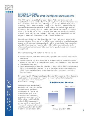 CASE STUDY - Private Equity Growth Capital Council