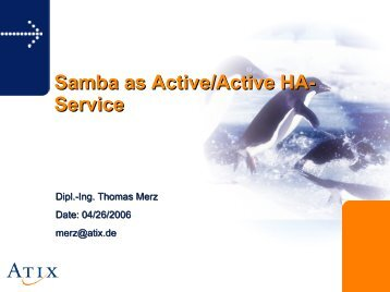 Samba as Active/Active HA- Service - sambaXP