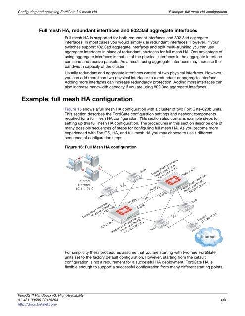 Full mesh HA overview Con