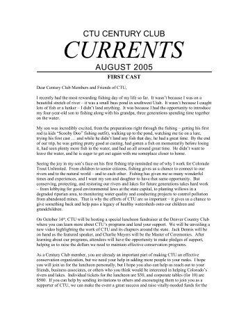 ctu century club - Cherry Creek Anglers