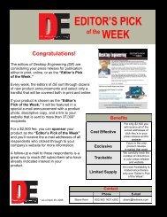 EDITOR'S PICK of the WEEK - Desktop Engineering