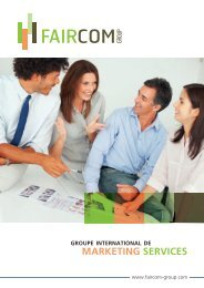 groupe international de marketing services - Faircom Group