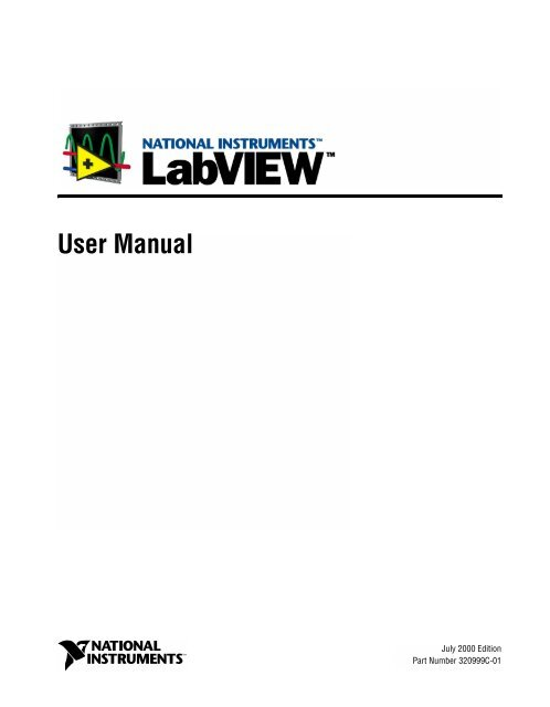 LabVIEW User Manual - National Instruments