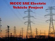 MCCC SAE Electric Vehicle Project