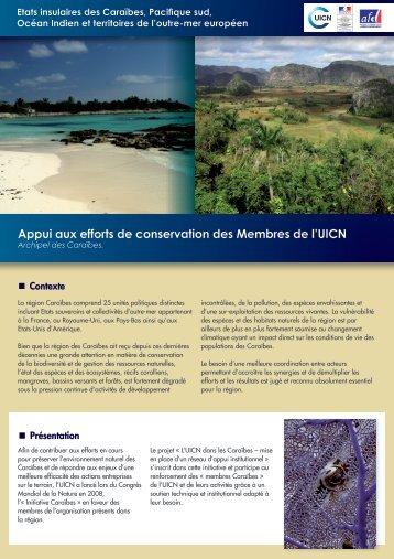Appui aux efforts de conservation des Membres de l'uicn - IUCN