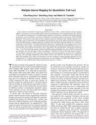 Multiple Interval Mapping for Quantitative Trait Loci - Genetics