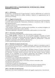 Regolamento per la concessione del patrocinio - Ordine Nazionale ...
