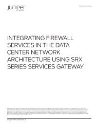 Integrating Firewall Services in the Data Center ... - Juniper Networks
