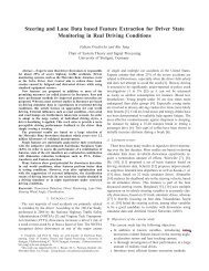 Steering and Lane Data based Feature Extraction for Driver State ...