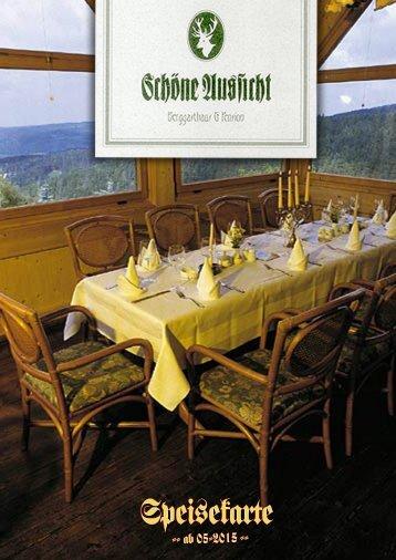 """Berggasthaus Klingenthal """"Schöne Aussicht"""" - Speisekarte"""