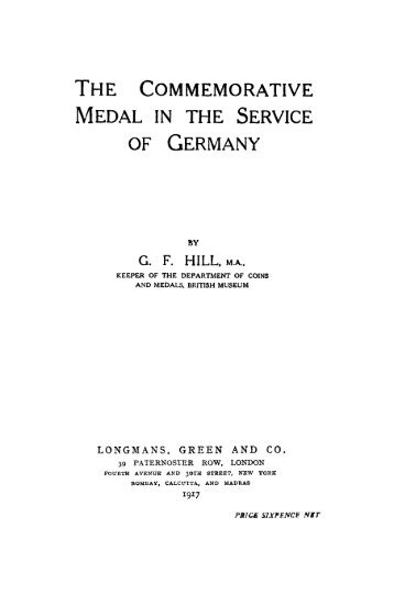THE COMMEMORATIVE MEDAL IN THE SERVICE OF GERMANY