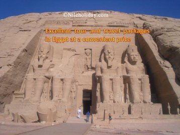 Excellent tour and travel packages in Egypt at a convenient price