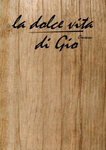 menukaart La dolce vita