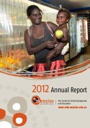 CCDE Annual Report 2012 - The Centre for Child Development ...