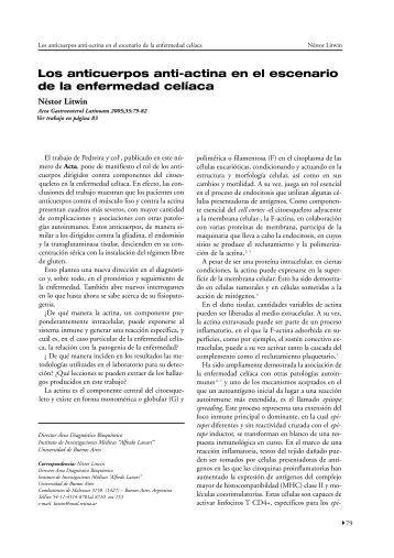 Los anticuerpos anti-actina en el escenario de - ACTA