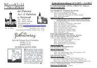 Pfarrblatt - Kolpingsfamilie Au id Hallertau