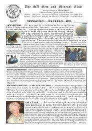 2012 OCTOBER - Pretoria Gem and Mineral Club