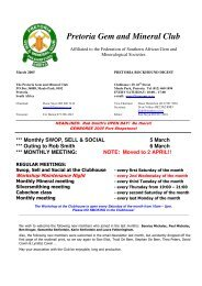 Pretoria Gem and Mineral Club