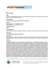 Variation in Spring Nearshore Resident Fish Species Composition ...