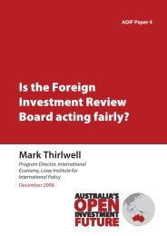 Is the Foreign Investment Review Board acting fairly?