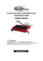15-GALLON STEEL LOW-PROFILE OIL DRAIN WITH PUMP