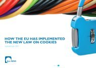How tHe eU Has implemented tHe new law on Cookies - DLA Piper