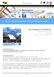 ROLAX® Wintergartenbeschattung - Bubendorff Wintergarten-Rollladen auch flach montierbar