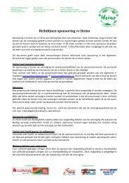 Richtlijnen sponsoring vv Heino _rev 0.1_