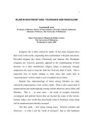 RELIGIOUS RADICALISM AND SECURITY IN SOUTH ASIA