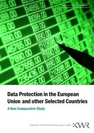 Data Protection in the European Union and other Selected ... - KWR