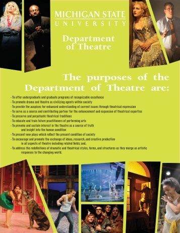 Department of Theatre Recruitment Brochure (PDF)