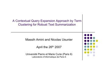 A Contextual Query Expansion Approach by Term Clustering for ...