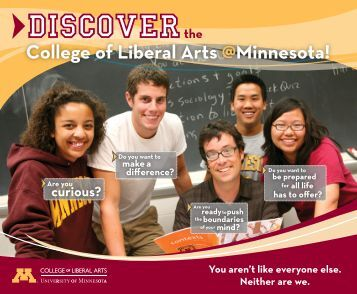 College of Liberal Arts @minnesota! - Discover CLA - University of ...