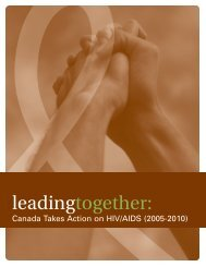 Leading Together: Canada Takes Action on HIV/AIDS, (2005-2010)