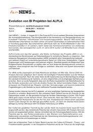 PDF :: fair-NEWS.de :: Evolution von BI Projekten bei ALPLA