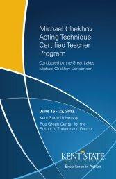 Michael Chekhov Acting  Technique Certified Teacher Program