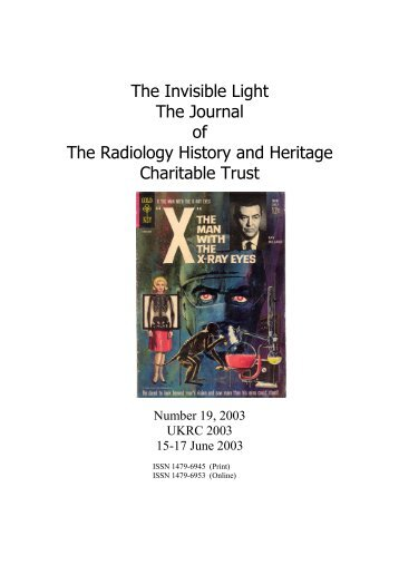 The Invisible Light The Journal of The Radiology History and ...