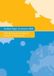 ESFRI BMS position paper on Horizon 2020 - Infrafrontier