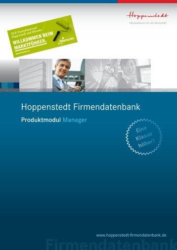 Manager - Hoppenstedt Firmendatenbank