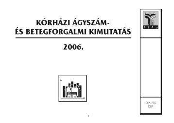 Kórházi ágyszámkimutatás 2006. - OEP-FIFO