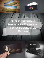 Business Card: 6 Important Elements For A Successful Design