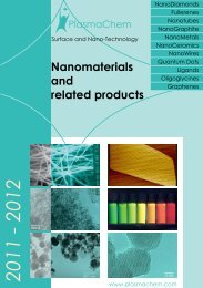 Nanomaterials and related products - Intercovamex