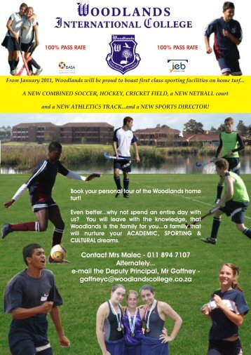 Sports & Cultural Ad - woodlands international college